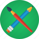 art, artist, brush, creative, creativity, design, design tool, designer, draw, paint, painter, painting, pencil icon
