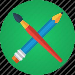 art, artist, brush, creative, creativity, design, design tool, designer, draw, paint, painter, painting, pencil icon