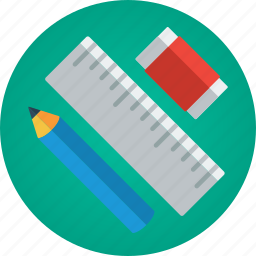 art, artist, creative, creativity, design, design tools, designer, draw, drawing, eraser, pencil, ruler, tools icon