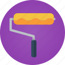 art, artist, brush, color, creativity, design, designer, paint, painter, painting, roll, roll brush icon