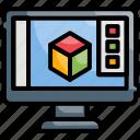 analysis, development, graphics, information, software icon