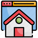 home, interface, page, web icon