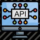 api, api interface, cogwheel, interface, program icon