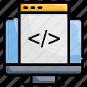 coding, custom, development, web icon