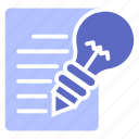 idea, lamp, creative icon
