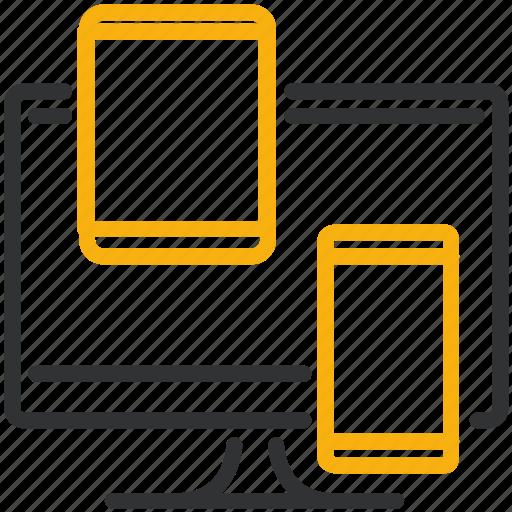 adaptive, design, development, responsive icon