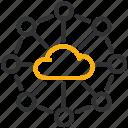 development, design, networking, cloud icon