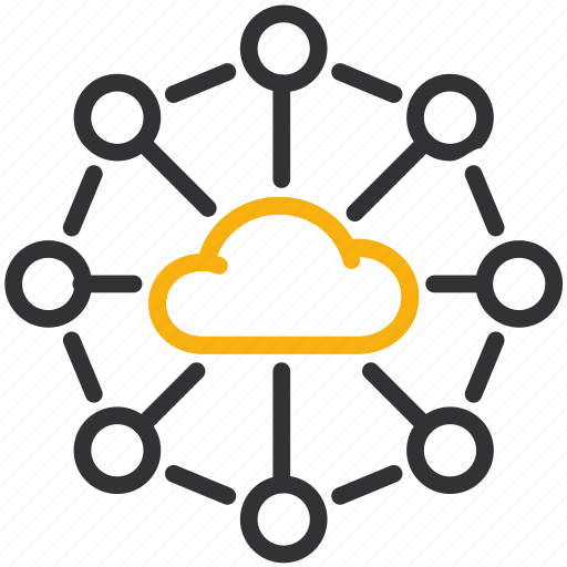 cloud, design, development, networking icon