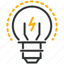 design, development, idea, lightbulb icon