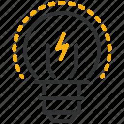 design, development, idea, lightbulb icon