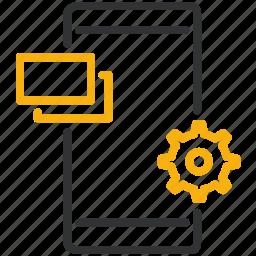 design, development, mobile, settings icon