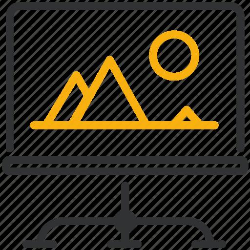 design, development, monitor icon