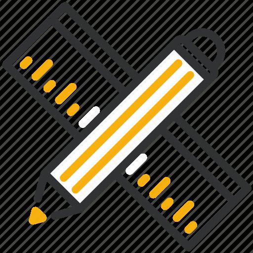 design, development, drafting, pencil, ruler icon