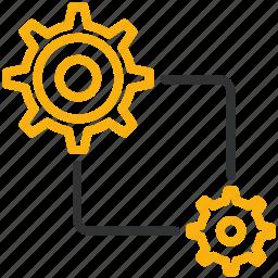 design, development, settings icon