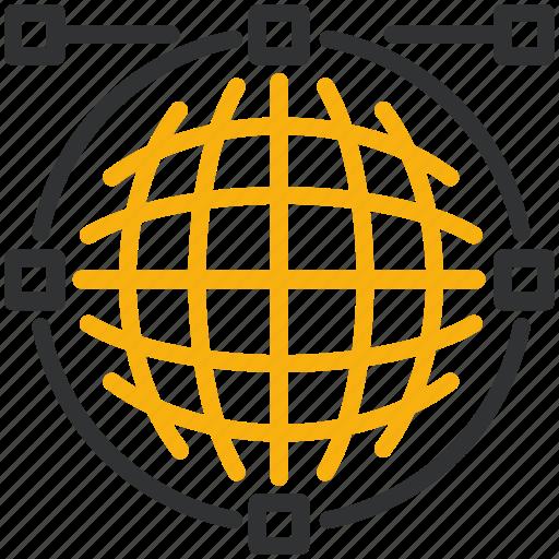 bezier, design, development, mesh icon