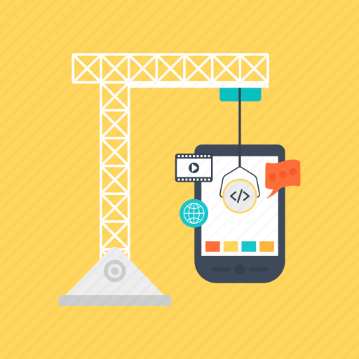 app development, app ui construction, app under construction, digital engineering, under construction app interface icon