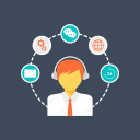 call center, customer care, customer representative, customer services, customer support icon