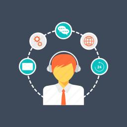 call center, customer care, customer representative, customer services, customer support icon
