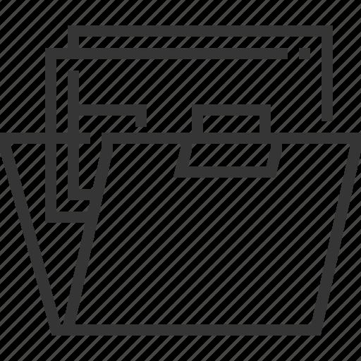 browser, document, file, folder, portfolio, works icon