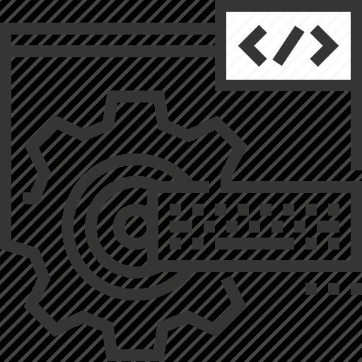 back end development, code, coder, developer, programmer, server, website icon