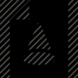 design, dimension, document, extension, file icon