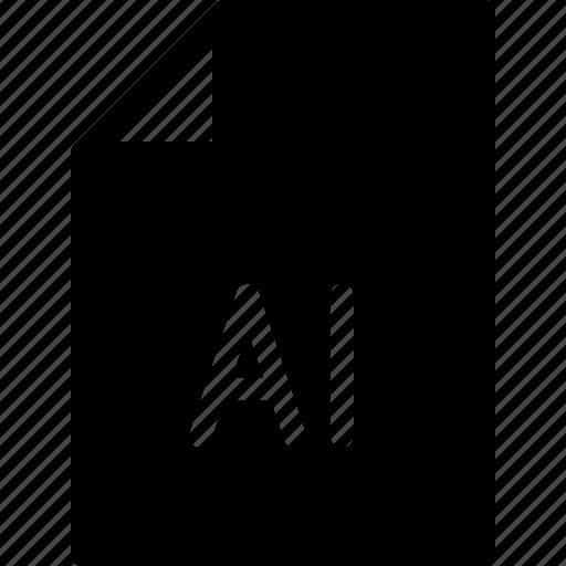 design, document, extension, file, illustrator icon