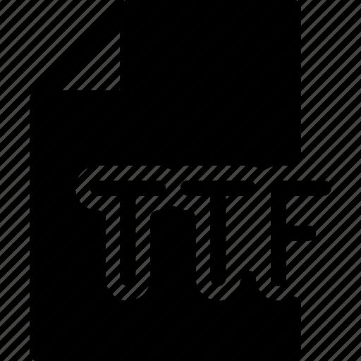 design, extension, file, font, ttf icon