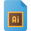 adobe, design, file, illustrator, page, type icon