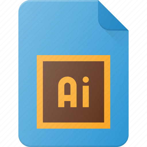 adobe, design, file, illustrator, page, type icon