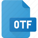 design, extension, file, open, otf, page, type icon