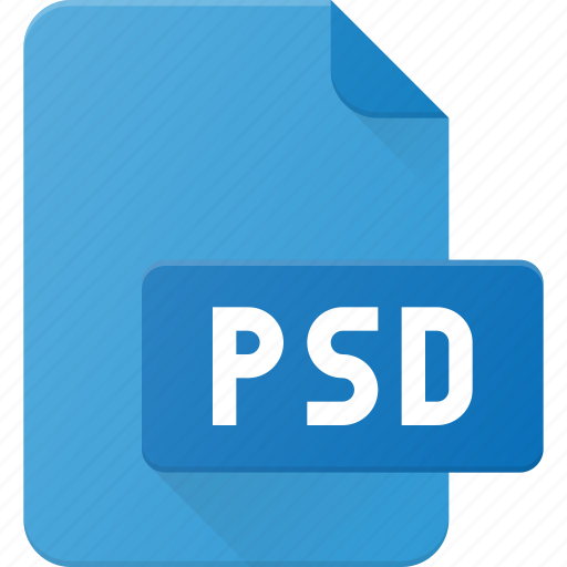 design, extension, file, page, photoshop, psd, type icon