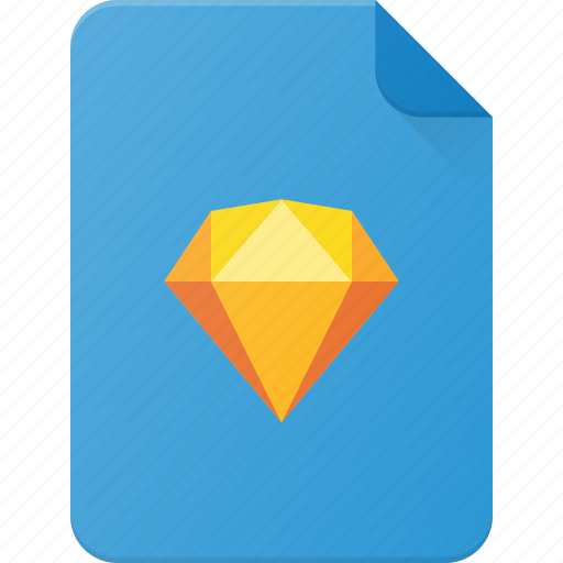 design, extension, file, page, sketch, type icon