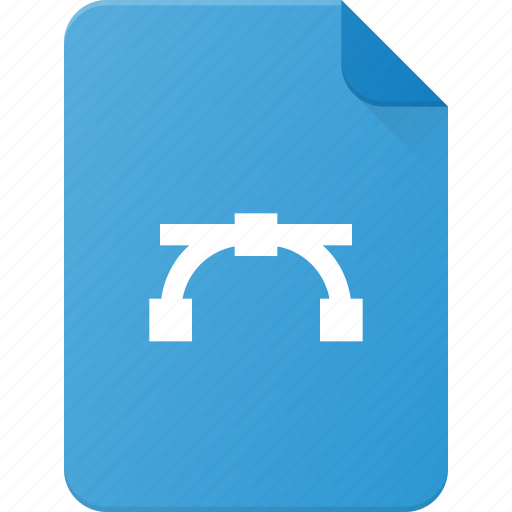 curve, design, extension, file, page, type icon