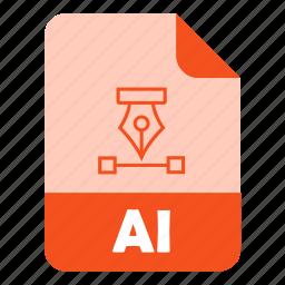 adobe illustrator, design, extension, file, illustrator icon