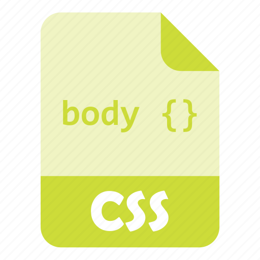 code, css, design, extension, file icon