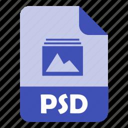 adobe photoshop, design, extension, file, photoshop, psd, psd file icon