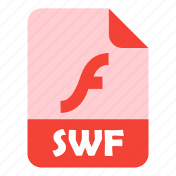 design, extension, file, flash, swf icon