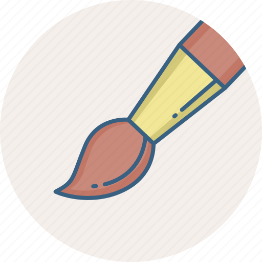 Paint brush, graphic, paint, design, brush, designing, drawing icon