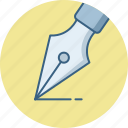 nib, pen, writing icon
