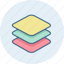 design, layers, stack icon