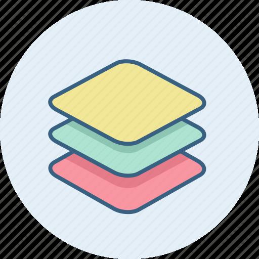 design, layers, stack icon