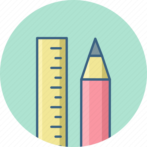 Pencil, ruler, stationary icon - Download on Iconfinder