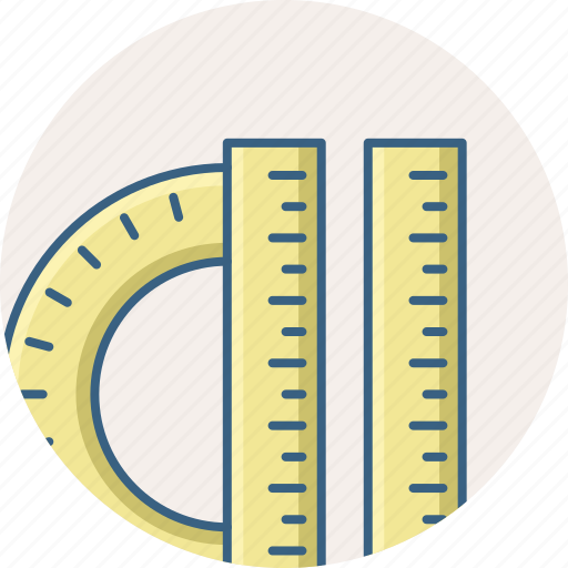Protractor, ruler, tools icon - Download on Iconfinder