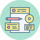 branding, designing icon
