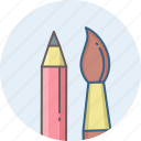 art, brush, design, designing, edit, paint brush, pencil icon