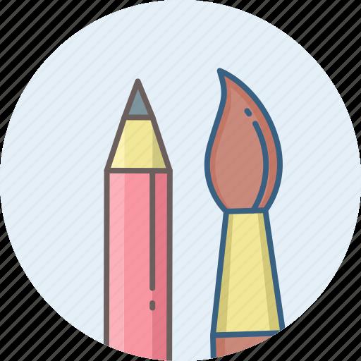 art, brush, design, designing, edit, paint brush, pencil icon
