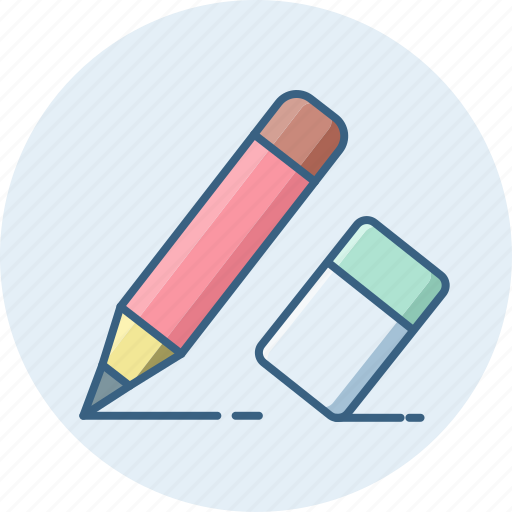 Eraser, pencil, document, edit, paper, writing icon - Download on Iconfinder