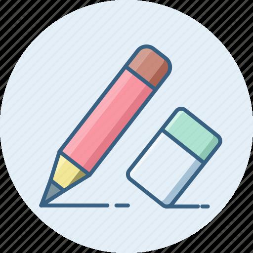 document, edit, eraser, paper, pencil, writing icon