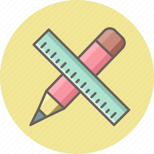 draw, drawing, edit, pencil, ruler, stationary, write icon