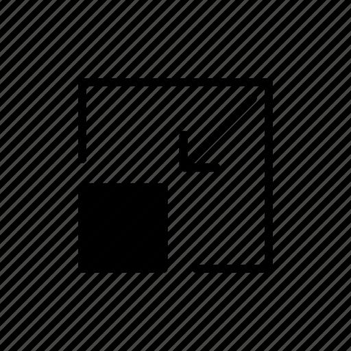 minimize, resize, screen, small icon